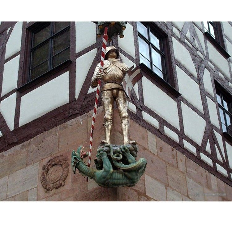 Saint Statue Saint George Statue Killing Dragon