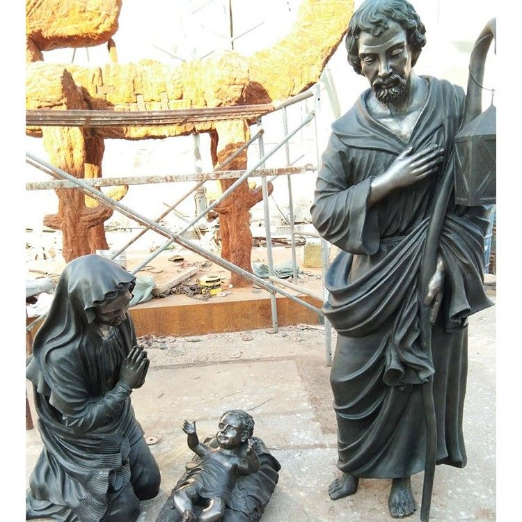 Life-size statues of Holy Family Mary St. Joseph Jesus for sale