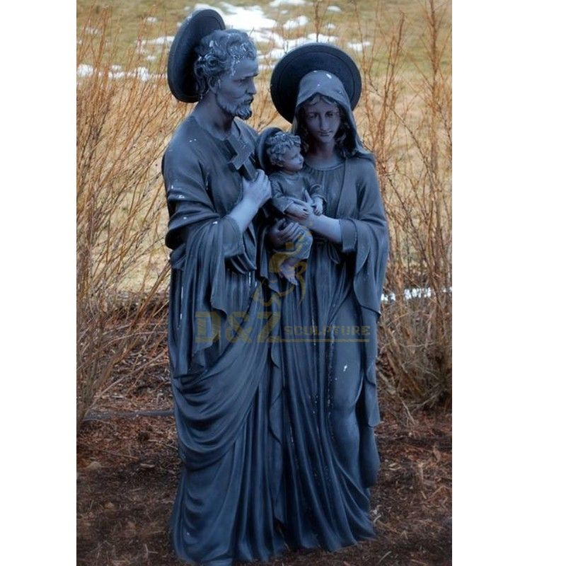Religious decoration holy family statue for sale