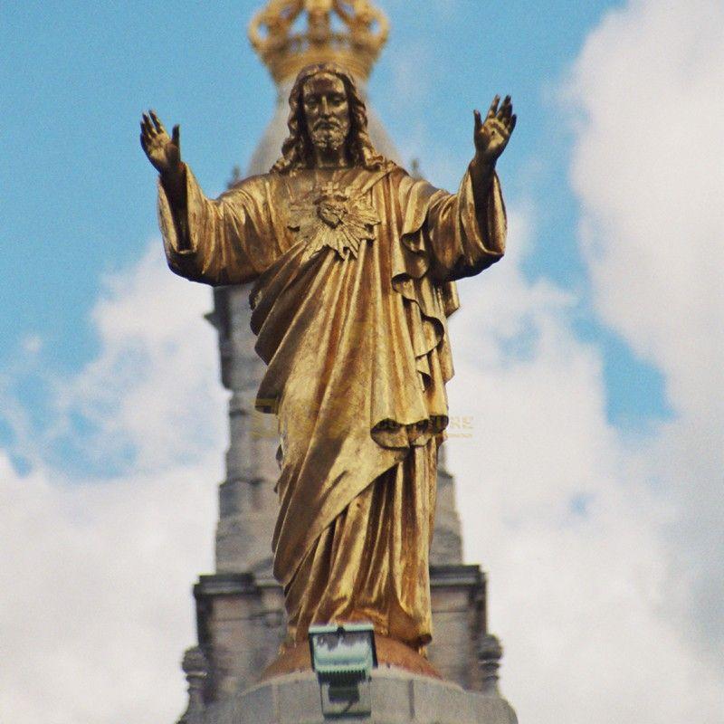 Life Size Religious Decoration Bronze Jesus garden Statues for church