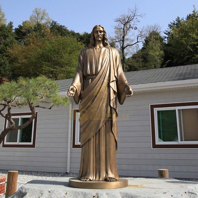 concrete jesus statue