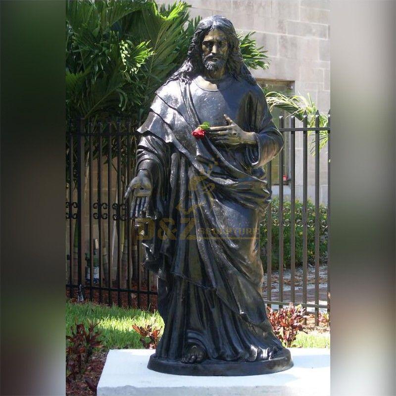 Hot sale custom outdoor garden religious decoration life-size Jesus Christ statue