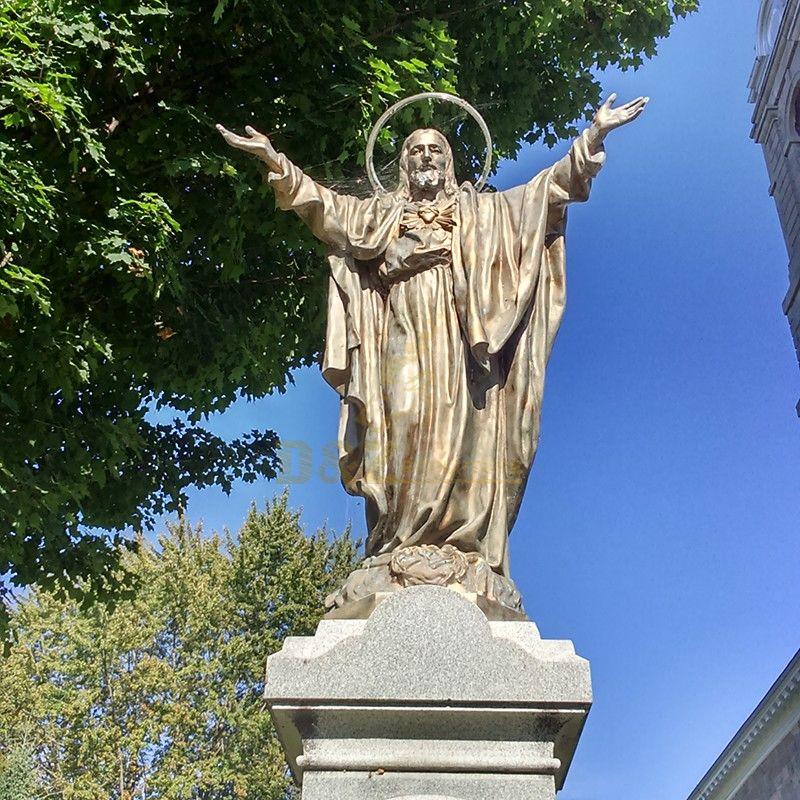 Custom christian religious bronze open arms jesus statue for sale