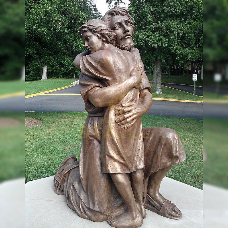 Life Size Garden Catholic Christian Saint Joseph with child jesus statue for sale