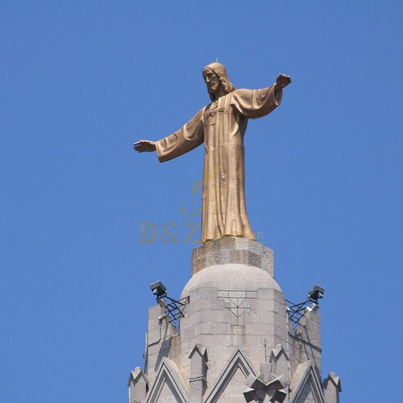 Large garden church decor metal religion sculpture bronze copper Jesus sculpture