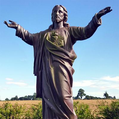 open arms jesus statue