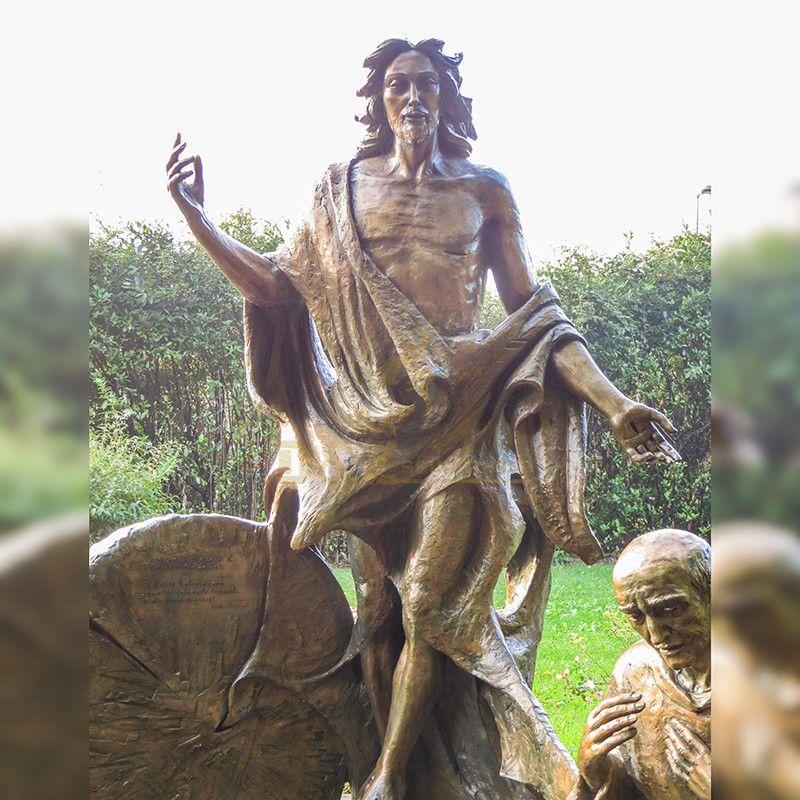 sculpture of homeless jesus