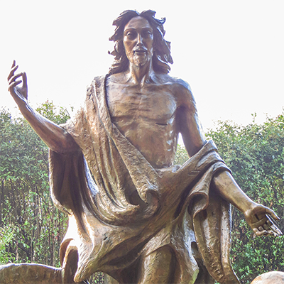 homeless jesus christ sculpture