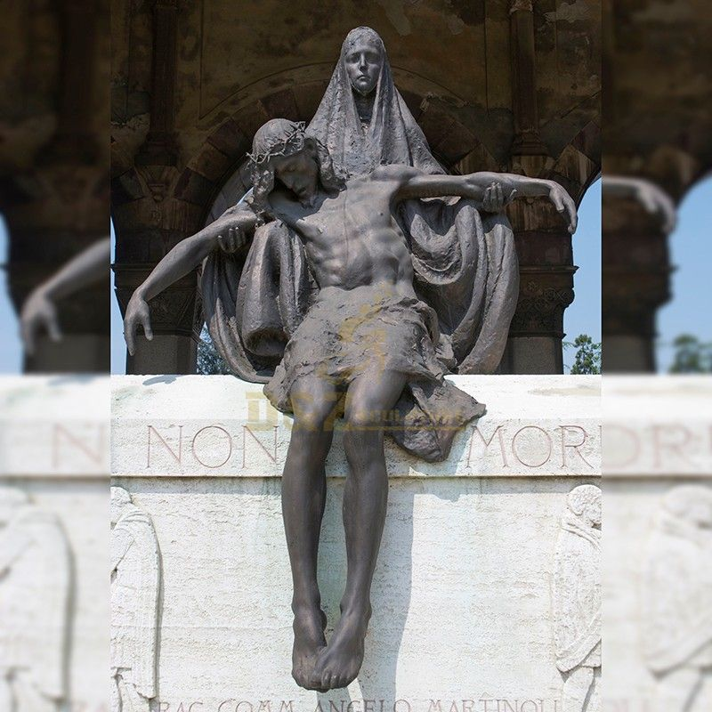 Hot Sale metal casting bronze death of jesus statue for church