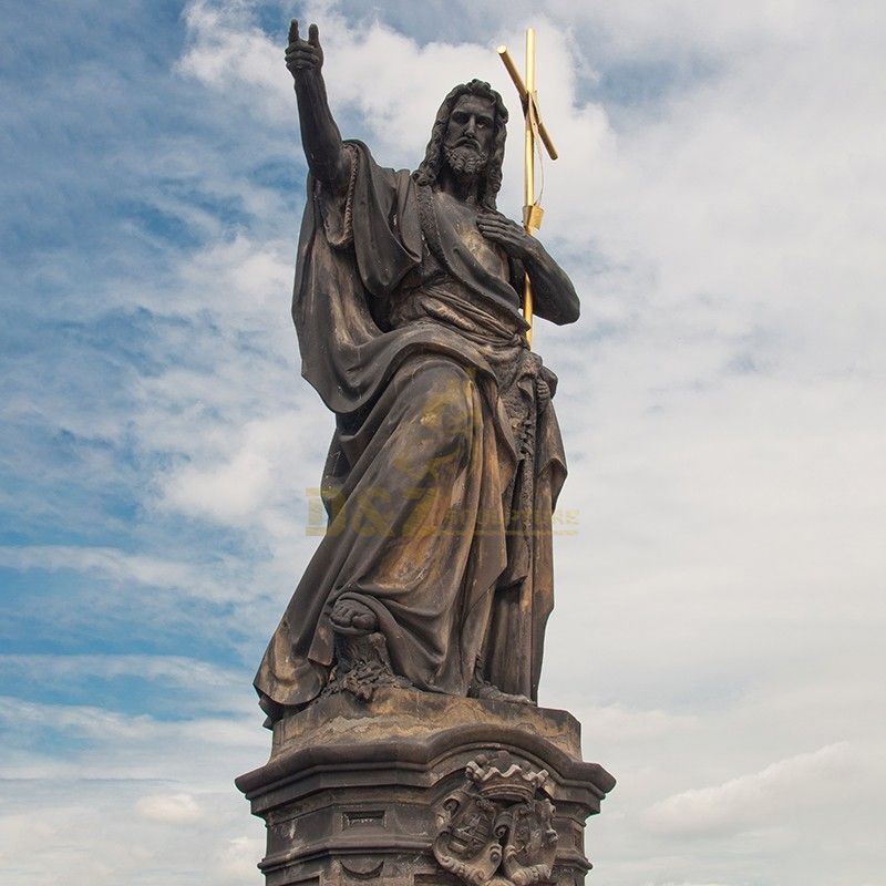 Famous Catholic Christian religious decoration Jesus and cross for sale at Charles Bridge
