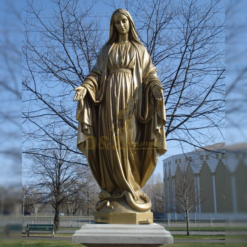 Beautifully customized bronze statue of Virgin Mary blessing for sale