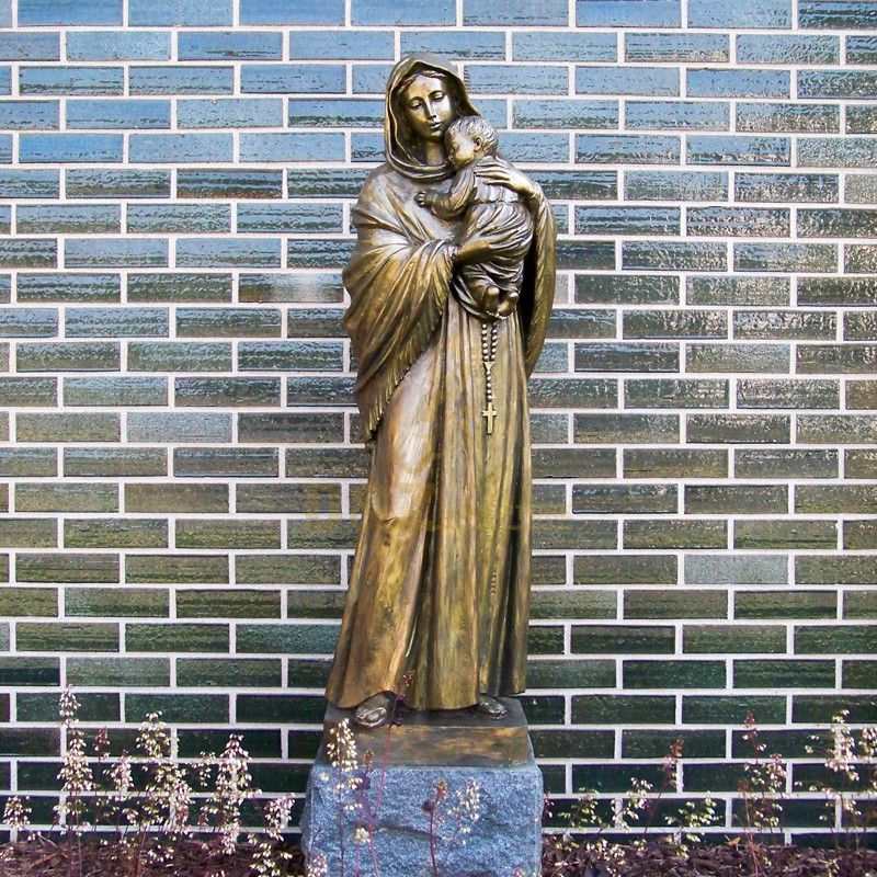 virgin mary statue jesus