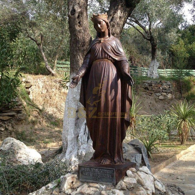 Modern outdoor garden religious decoration Virgin Mary bronze statue for sale