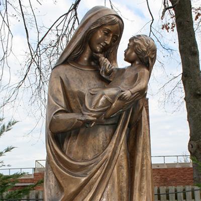 sculpture of virgin mary