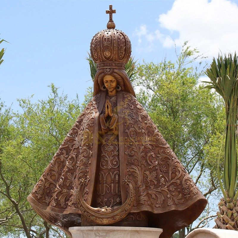New design high quality outdoor religious decoration virgin mary fatima statue