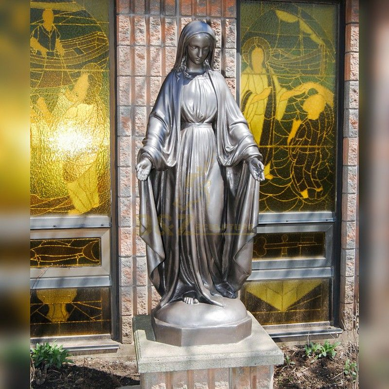 Life size best quality bronze standing virgin mary statue for sale