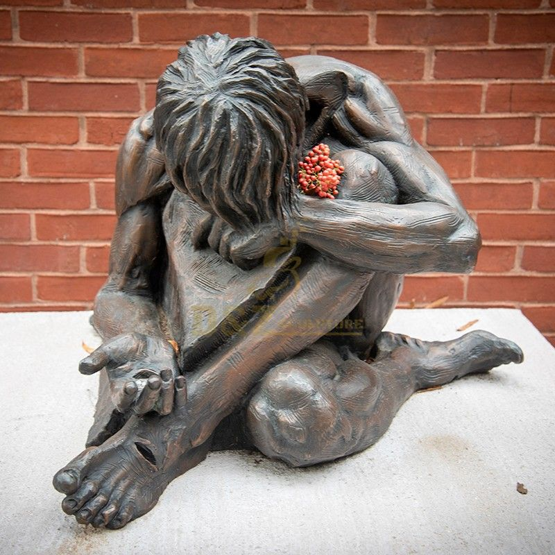 Metal casting outdoor religious decoration homeless Jesus Christ statue for sale