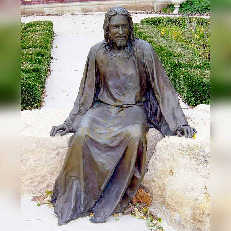 Western life size Christian Church decoration metal bronze sitting Jesus statue for sale