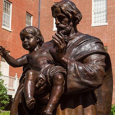 statue of st joseph with baby jesus