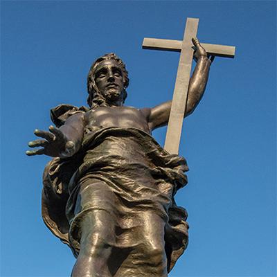 antique jesus statue