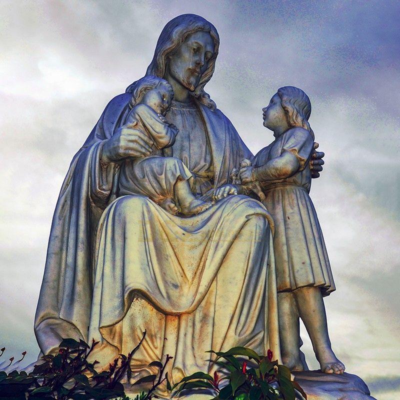 New design catholic christ decoration bronze jesus and child statue for sale