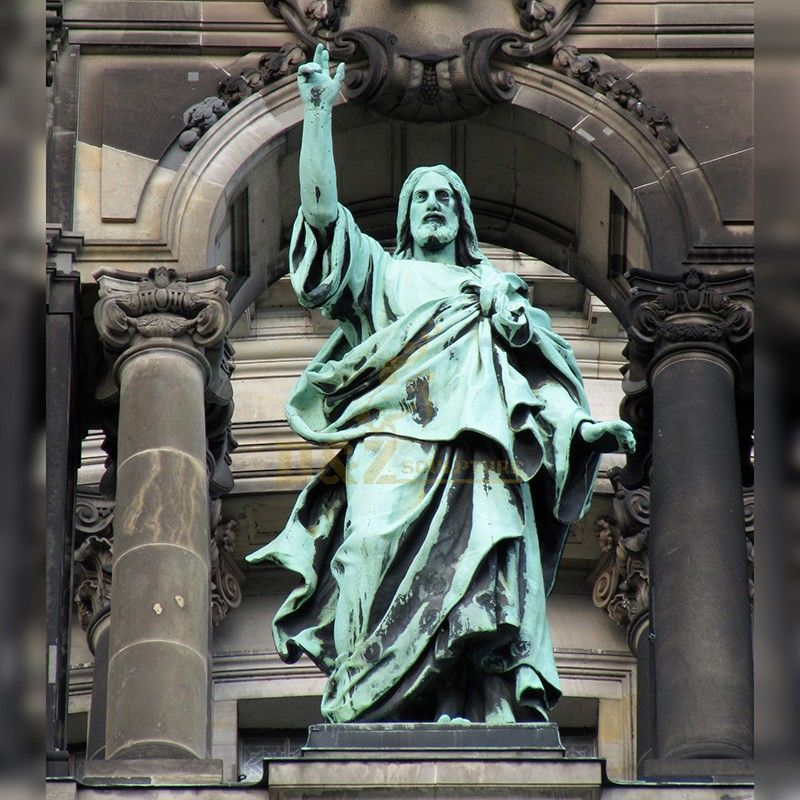 Church decoration hand-cast large bronze statue of Catholic Jesus Christ