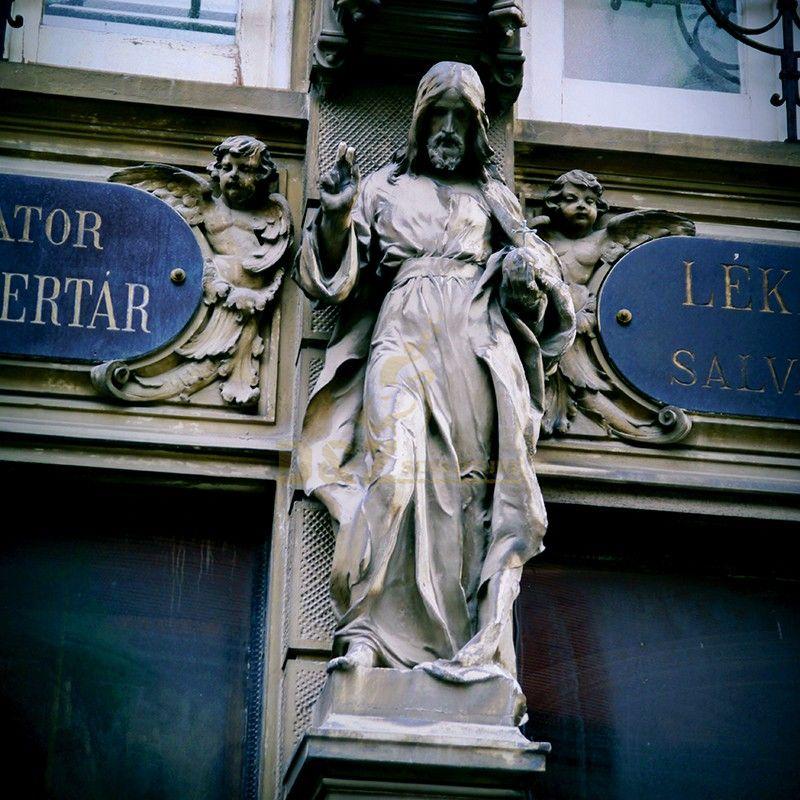 Life-size metal cast Catholic Jesus Christ statue for sale