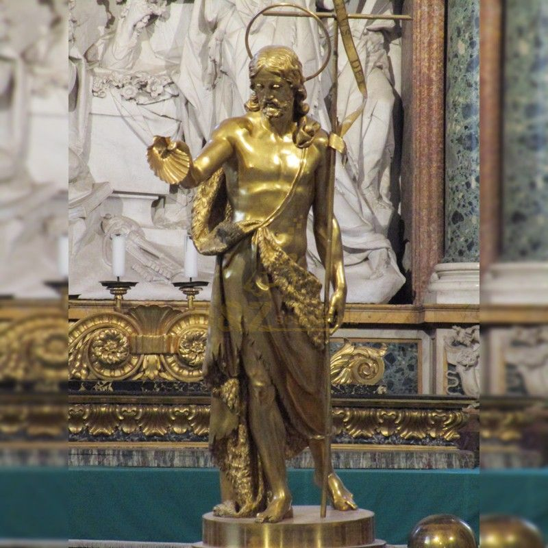 Hot selling homeless golden jesus bronze statue for church decoration