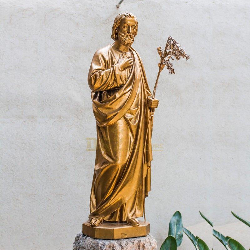 Customized indoor outdoor religious decoration golden Jesus statue for sale