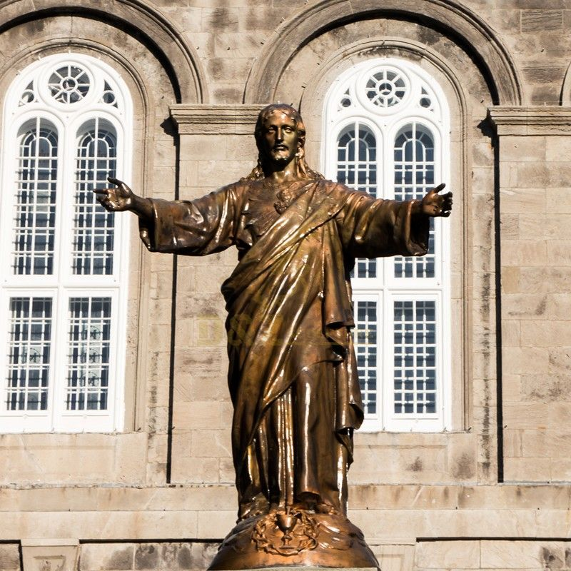 Exquisite metal casting outdoor religious decoration Jesus christ statue for church