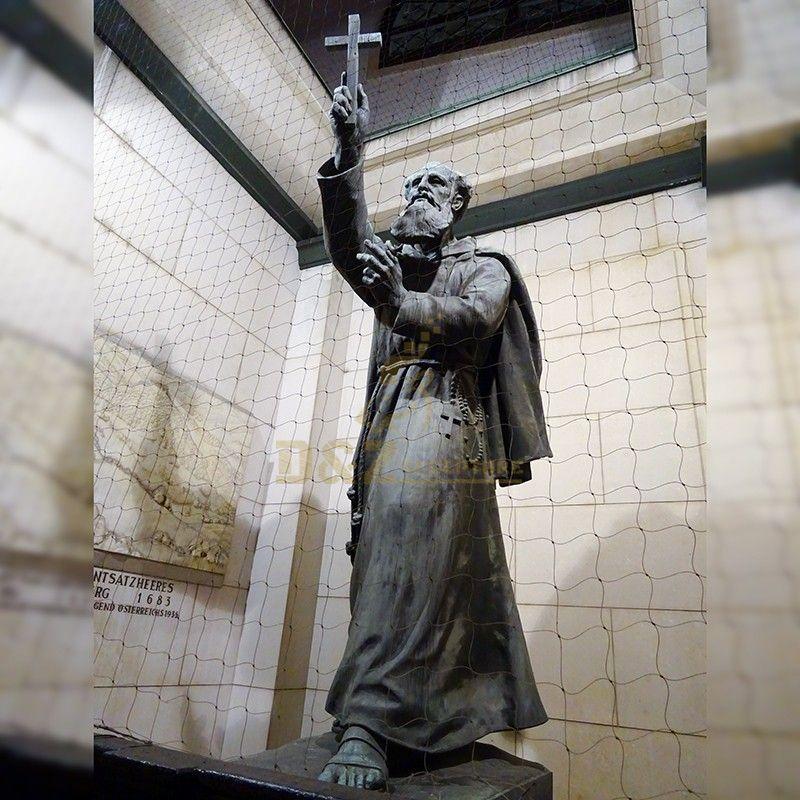 Top grade factory supplier handmade life size bronze Francis Assisi statue