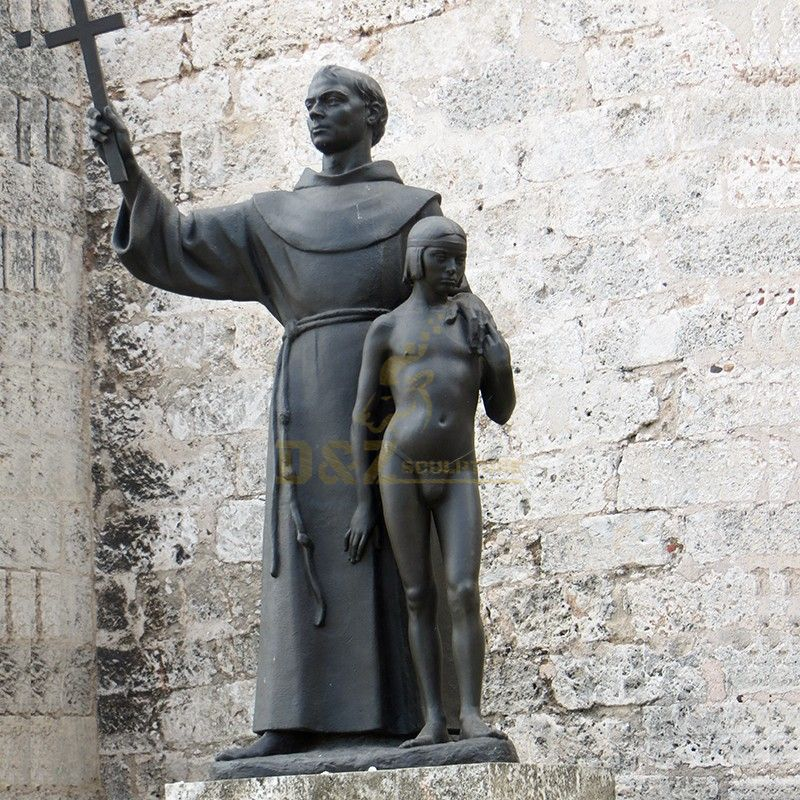Hot sale St. Francis of Assisi With a little nearly naked boy statue