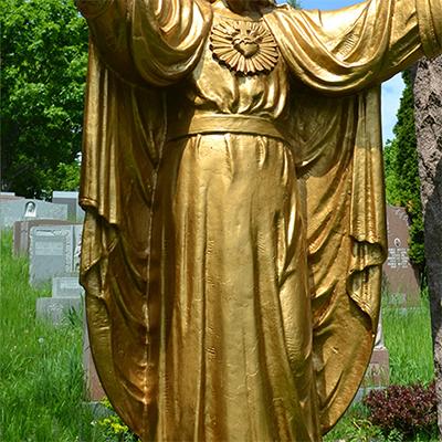 garden jesus statue