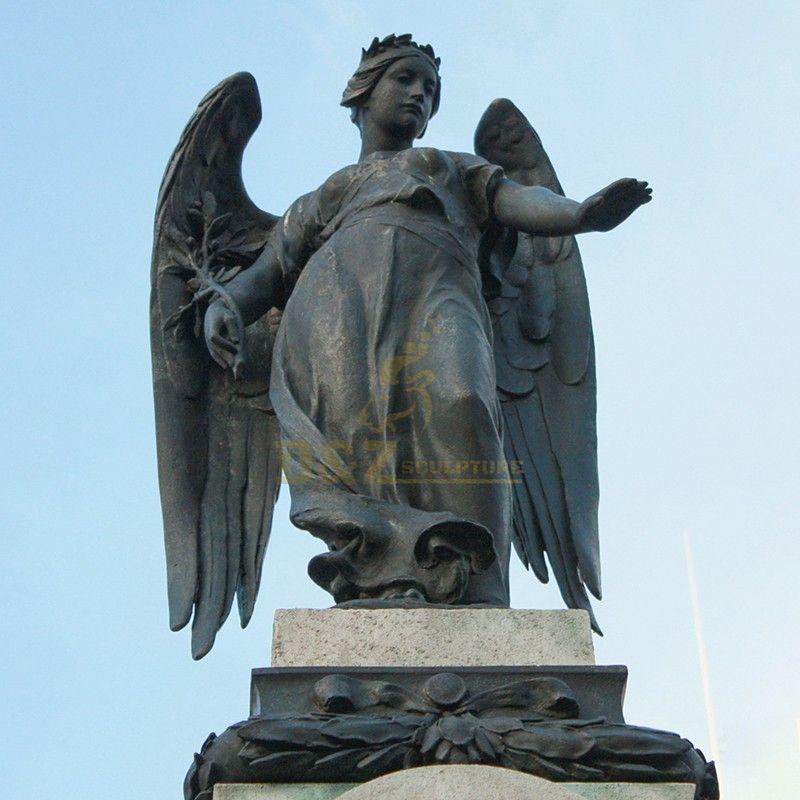 Large outdoor standing memorial angel garden statue for sale