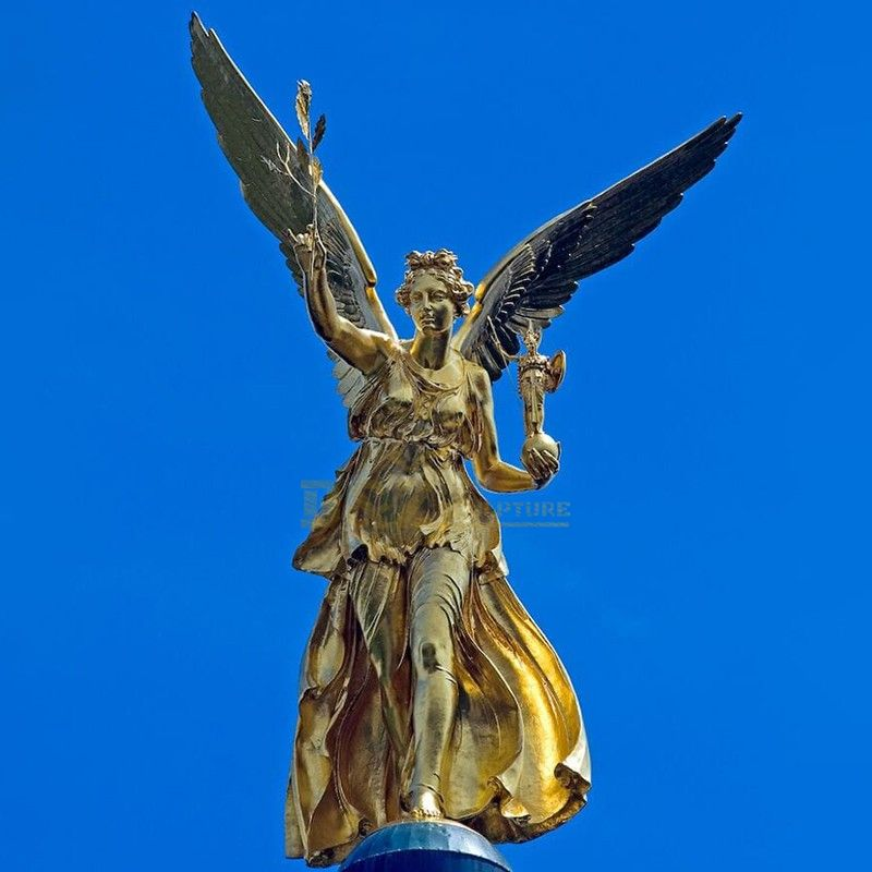 Customizable famous large golden peace angel statue for sale
