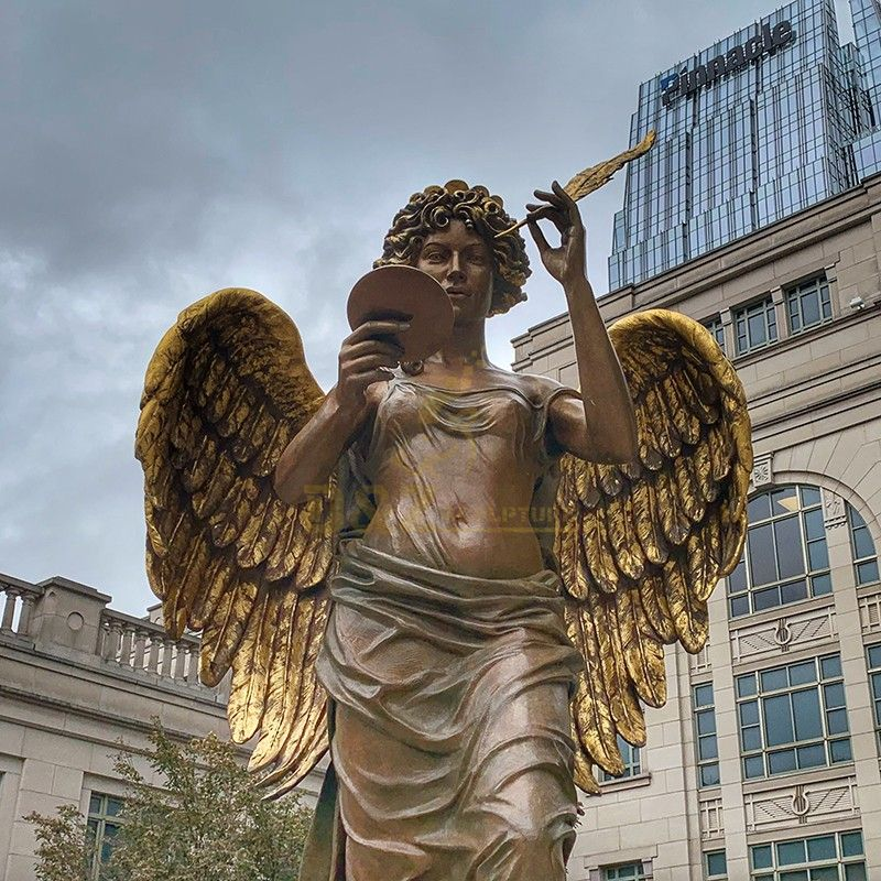 Factory wholesale exquisite brass angel outdoor statue for sale