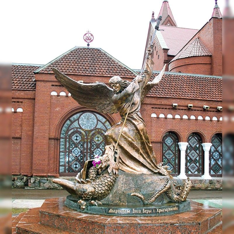 The famous Archangel Michael pierced the dragon with a spear for sale