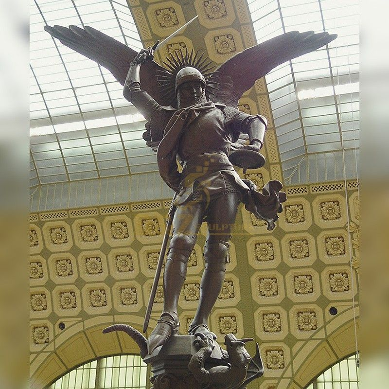 High quality religious statue famous Archangel Michael statue for sale