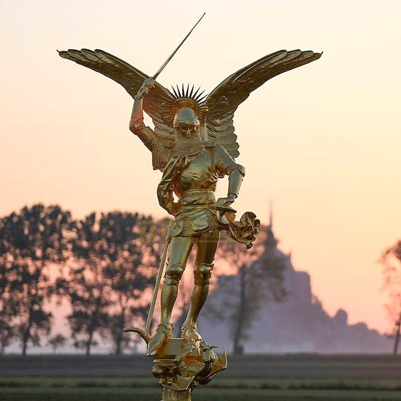 High quality religious statue large Saint Michael statue for sale