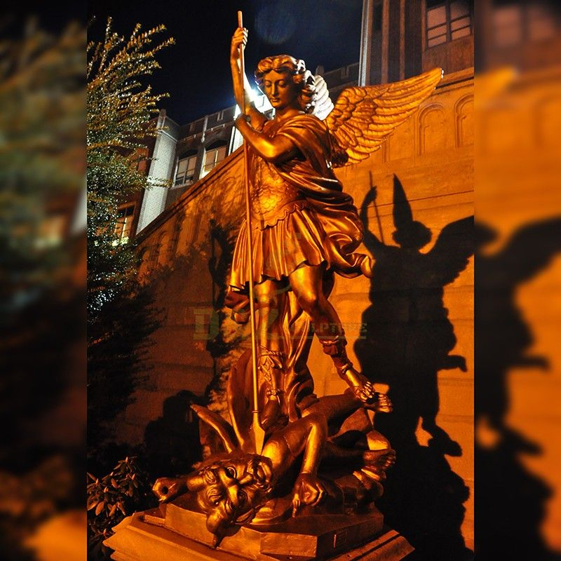 Hot Bronze Statue of Saint Michael Slaying the Dragon for Sale