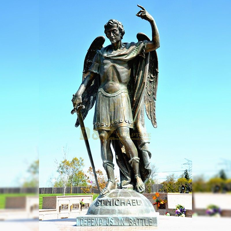 New products large bronze male angel statue St Michael for sale