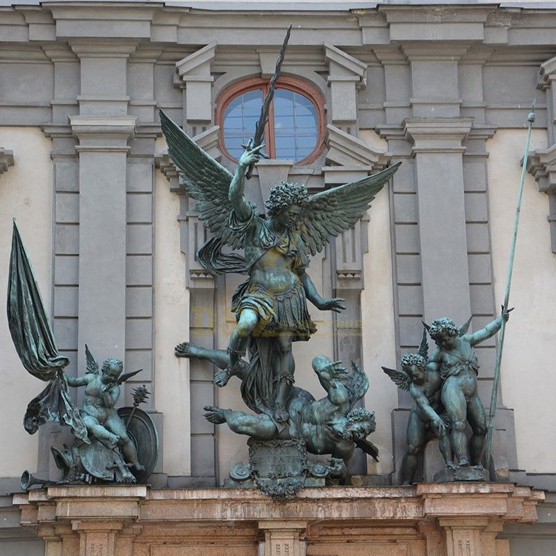 The famous large statue of St. Michael fighting with the devil for sale