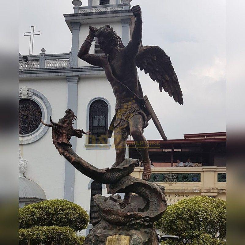 big saint michael statue