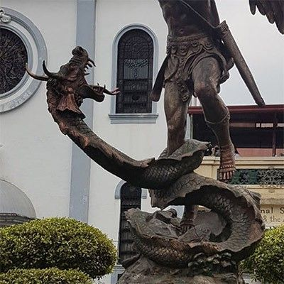 saint michael statue germany