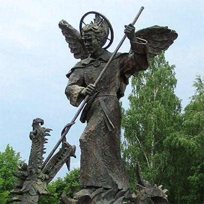 st michael sculpture