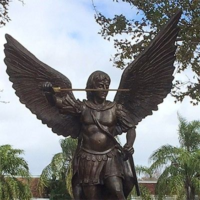 saint michael bronze statue