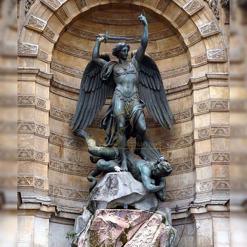 Famous bronze St. Michael the Archangel outdoor statue for sale