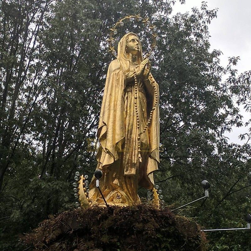 The famous religious sculpture Gold-leaf statue of Mary for sale