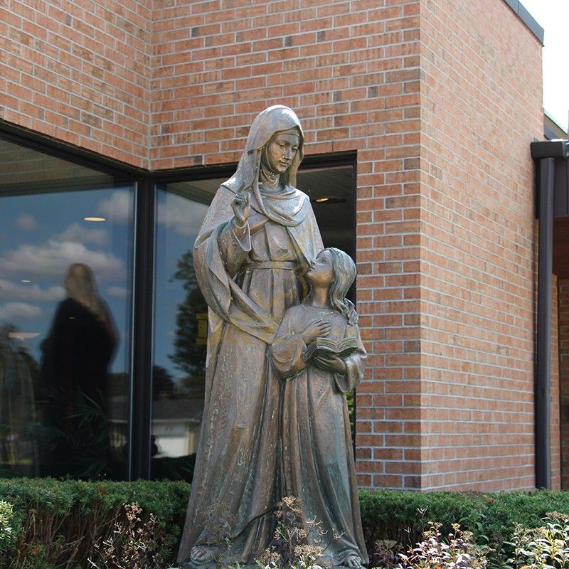 New product saint Anne with mary statue garden decoration for sale