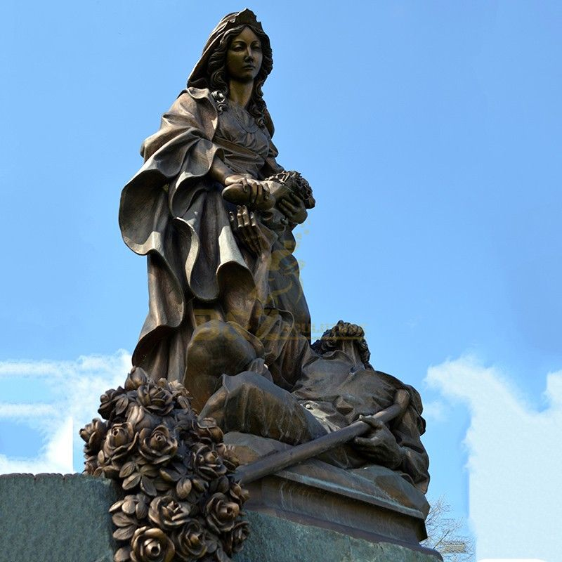 Western style bronze best quality Saint Elizabeth statue for sale